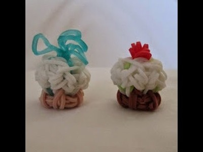 Rainbow Loom- How to Make Toppings for a 3D Cupcake (by DIY Mommy)