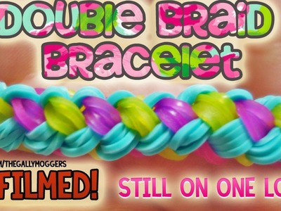 REFILMED! Rainbow Loom Double Braid Bracelet on One Loom