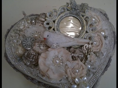 Shabby chic altered heart shaped box   woc dt project