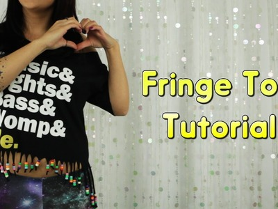 T-Shirt Cutting Tutorial : Fringe Top [iHeartRaves.com]