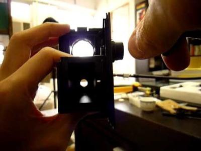 Testing DIY shutter line on gakken TLR