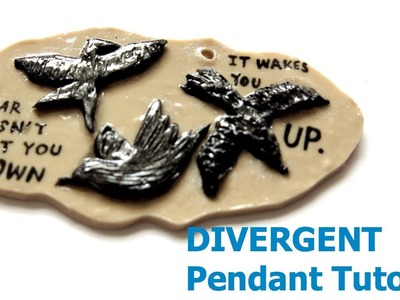 Tris's Tattoo (Divergent) Polymer Clay Pendant Tutorial