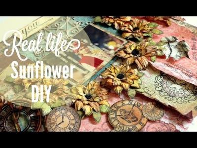 Tutorial -  Real Sunflowers using Heartfelt creations Sun Kissed fleur