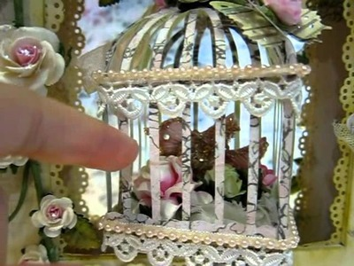 3D Birdcage shadowbox for Crystal(Juncrys315)-No PEEKING girl ^0^