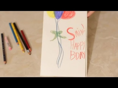 A Birthday Card Idea for a Big Poster Board : Cards & Crafts