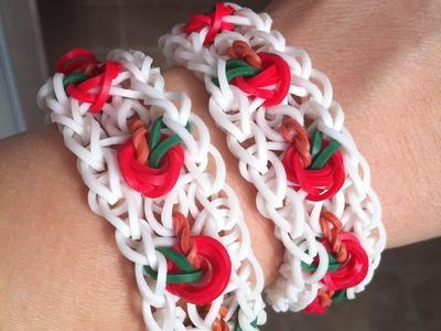 Apple.Cherry.Tomato Rainbow Loom bracelet
