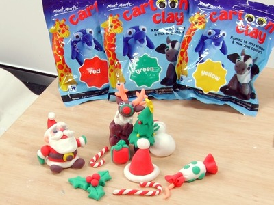 Art Lesson: How to Make Christmas Table Decorations using Cartoon Clay