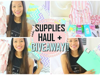 Back To School: Supplies Haul + GIVEAWAY 2014!!