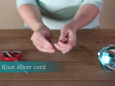 Christmas Décor - How to Make a Paper Strip Ornament