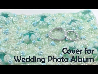 Cover for wedding photo album. journal - polymer clay TUTORIAL