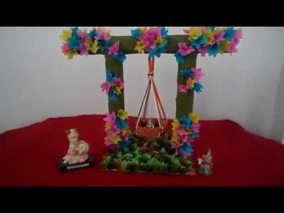 Craft 2014,handmade jhula for balgopal.