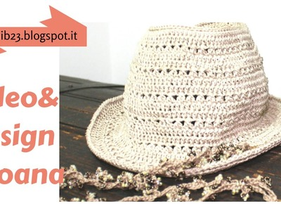 Crochet Fedora summer hat