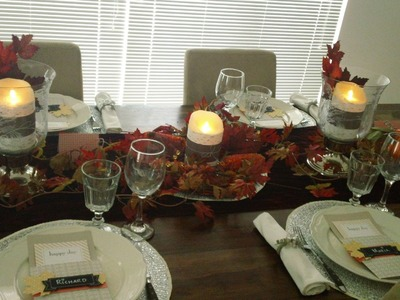 Decor Series - Thankful Tablescape Simply Created by Stampin' Up