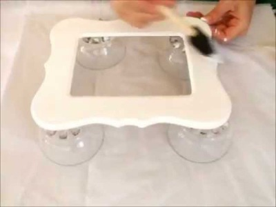 Decorating Wood Frame With Paint-Decoupage and Stamping