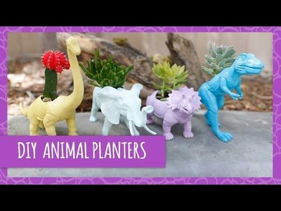 DIY Cute Dinosaur Planters- HGTV Handmade