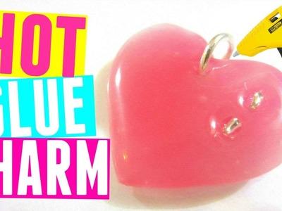DIY Hot Glue Necklace Pendant   DIY Heart Charm