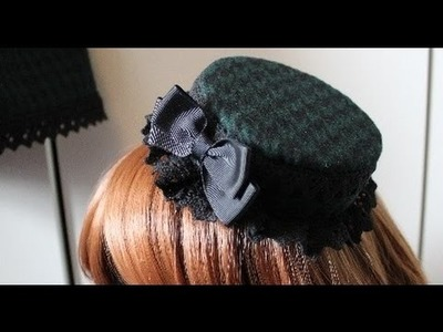 DIY: Matching (pillbox or regular) hat from scrap fabric for lolita (tutorial)