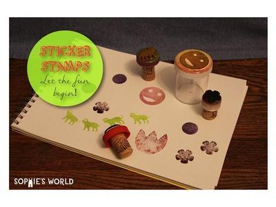 DIY sticker stamps | Sophie's World