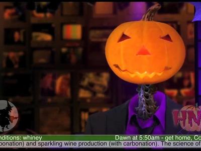 Halloween Party Wine Bottle Make-Over