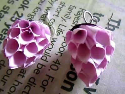 Handmade Jewelry - Paper Cone Strawberry Earrings