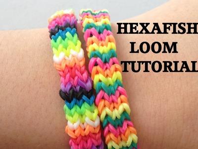HEXAFISH (FLEXAFISH) Loom Bracelet Tutorial Rainbow Loom l JasmineStarler