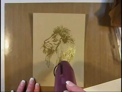 How I made a Lion Wall Art using embossing