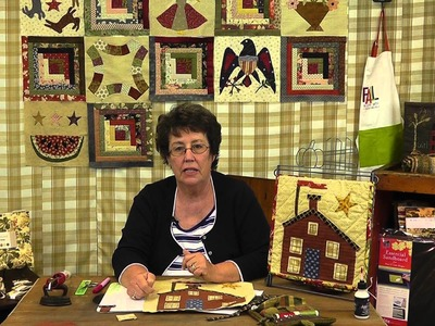 How to applique a Schoolhouse Mini Quilt- Block 7 of Jan Patek's  Block of the Month