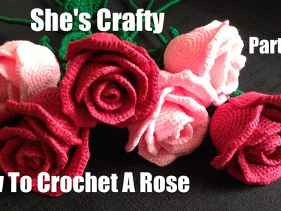 How To Crochet A Rose: Easy Crochet lessons to crochet flowers part 2:2