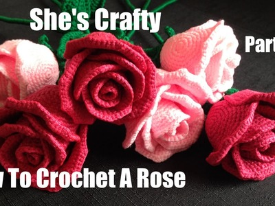 How To Crochet A Rose: Easy Crochet lessons to crochet flowers part 2:1