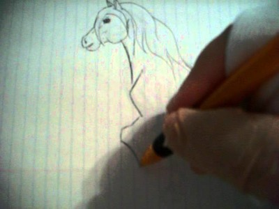 How to draw a horse on Notebook Paper