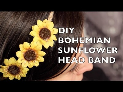 How To Make A Bohemian Sunflower Headband