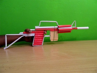 How to Make a Paper M4 Assault Rifle that shoots paper bullets - Easy Tutorials