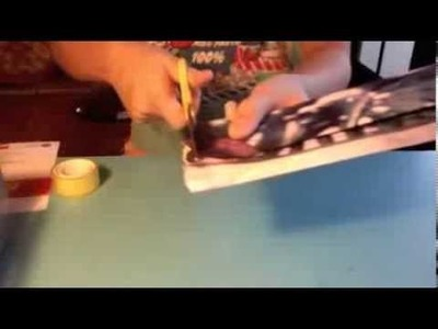 How to make a wallet out of magazines (paper)