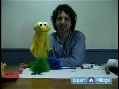 How to Make Puppets : Adding Hair: How to Make a Puppet