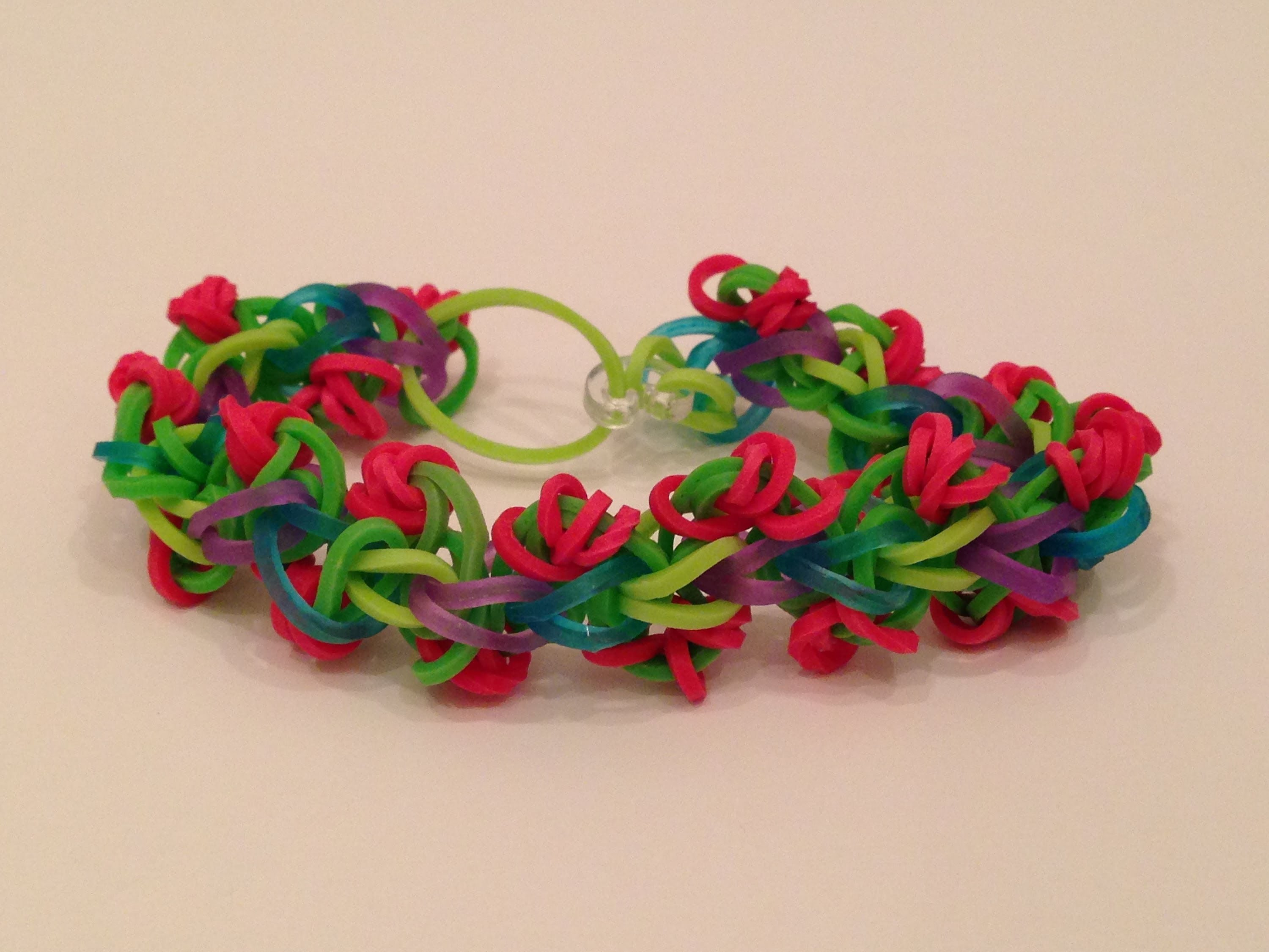 How To Make The Rose Chain Rainbow Loom Bracelet