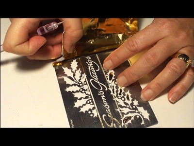 How to use Foil and Glitter with Brass Stencils