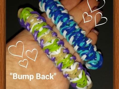 "My NEW ""Bump Back"" Rainbow Loom Bracelet.How To Tutorial"