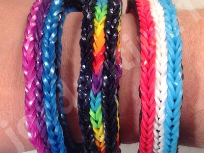 New Rainbow Loom Long Cross Triple Fishtail Bracelet