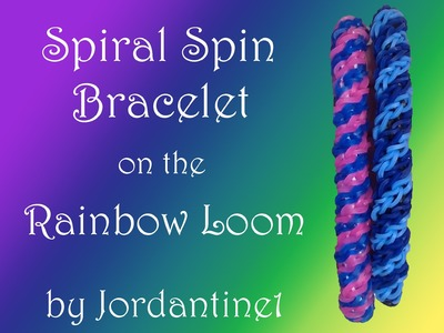 New Spiral Spin Bracelet - Rainbow Loom