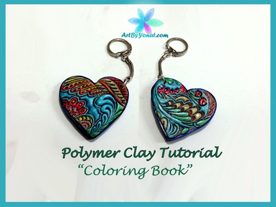Polymer Clay Tutorial - Coloring Book - Lesson #23