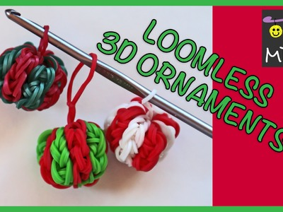 Rainbow Loom Band Charm - DIY Christmas Ornaments LOOMLESS!