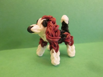 Rainbow Loom Beagle Dog or Puppy Charm. 3-D