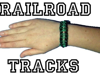 Rainbow Loom Bracelet - How-To Make A Railroad Track Bracelet !!!