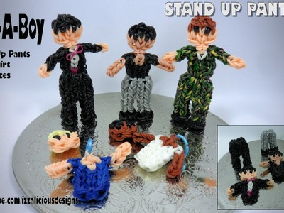 Rainbow Loom Build-A-Boy Action Figure.Charm - With Stand Up Pants - Gomitas