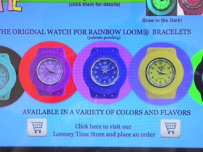 RAINBOW LOOM GIVEAWAY #6 - LOOMEY TIME WATCHES