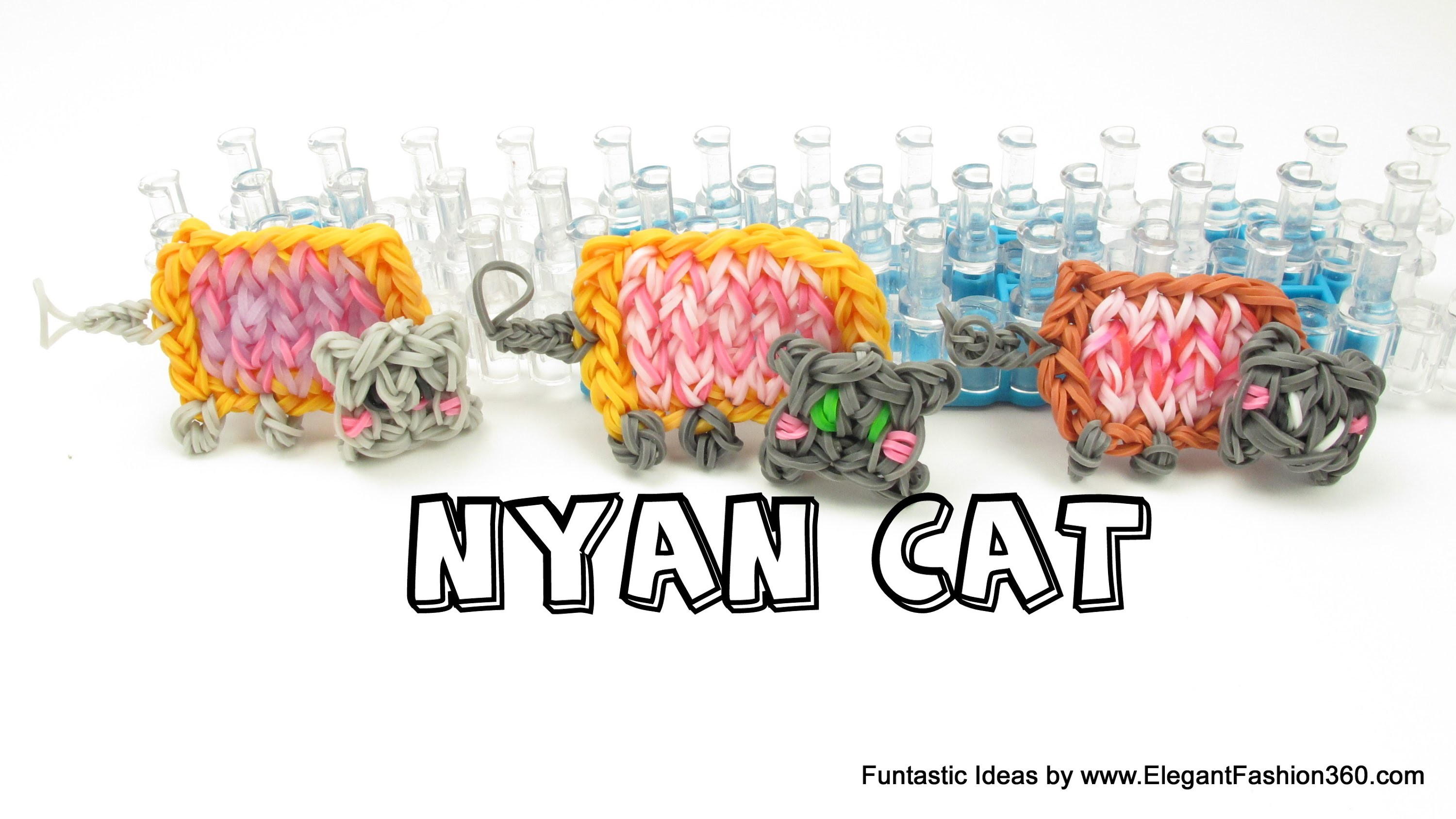 Rainbow Loom Nyan Cat Charms - How to tutorial