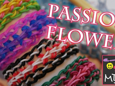 Rainbow Loom Passion Flower Bracelet Tutorial | How to