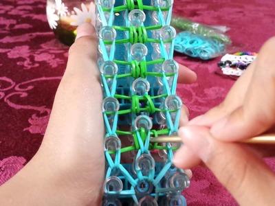 Rainbow loom Stegosaurus bracelet
