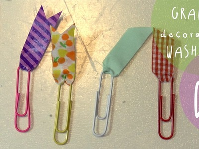 Tutorial back to school DIY: GRAFFETTE decorate con WASHI TAPE (personalizzazione AGENDA)