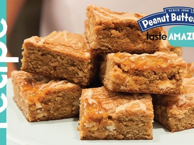 White Chocolate Peanut Butter Orange Blondie recipe